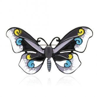 Брошка Метелик сіра
