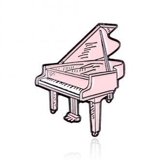 Брошка-значок Рояль рожева