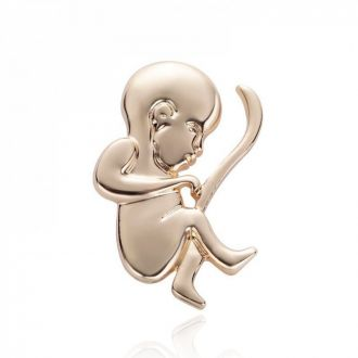 Брошка-значок для гінеколога Дитина золотиста
