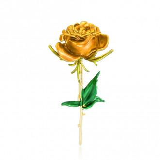 Брошка Троянда жовта