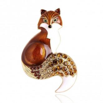 Брошка Лисиця коричнева
