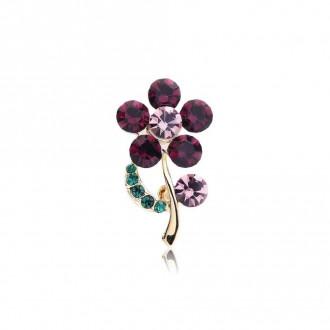Брошка Квітка фіолетова