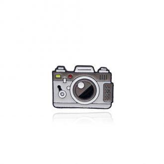 Брошь-значок Ретро Фотоаппарат серая