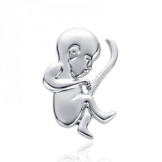 Брошка-значок для гінеколога Дитина срібляста