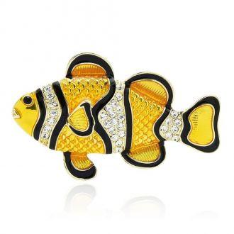 Брошка Рибка Клоун жовта