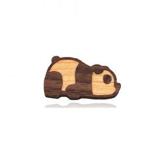 Брошка-значок Панда коричнева