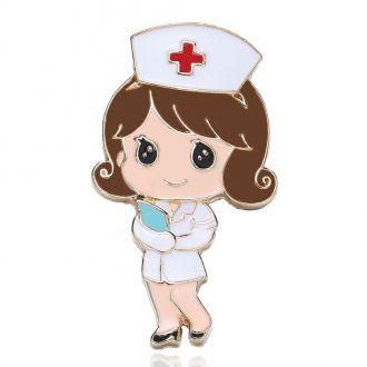 Брошка Медсестра біла