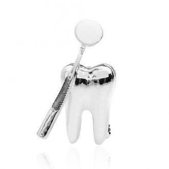 Брошка Зуб для Стоматолога срібляста