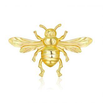 Брошка Бджола золотиста