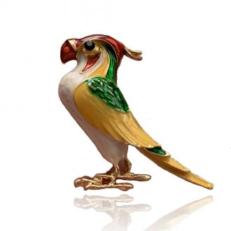 Брошка Папуга Жора різнокольорова