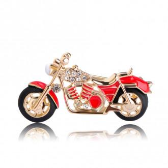 Брошка Мотоцикл червона